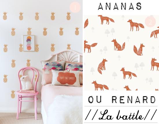 motifs ananas vs renard