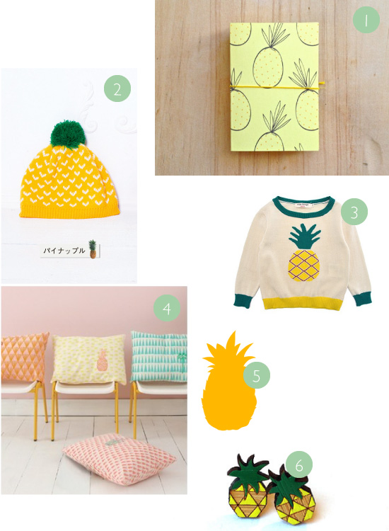 motifs ananas // Pineapple patterns
