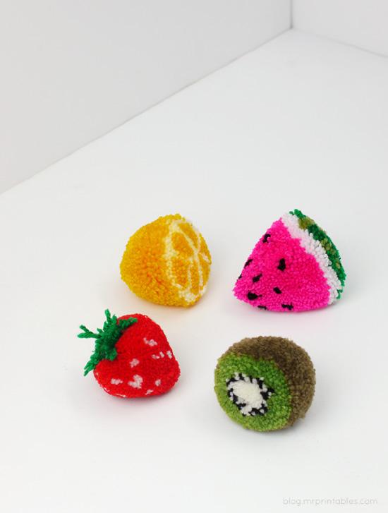 pom pom fruit // Mr Printables