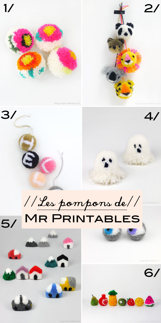 Les pompons de Mr Printables