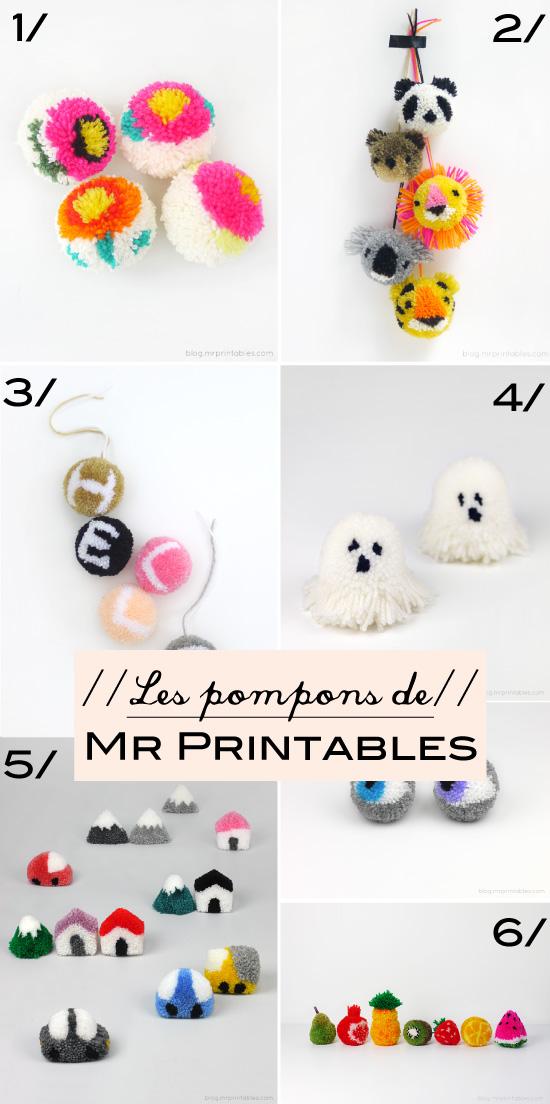 Les pompons de Mr Printables