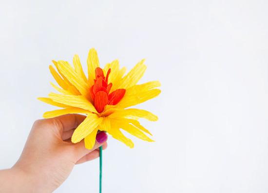 Crepe Paper Flower DIY // Fleurs en papier crépon // Hellobee
