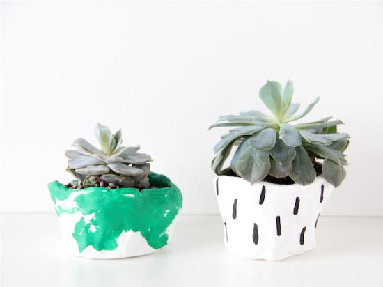petits pots de succulentes {diy} // momstatic