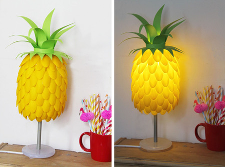 Pineapple Lamp // Craftfoxes