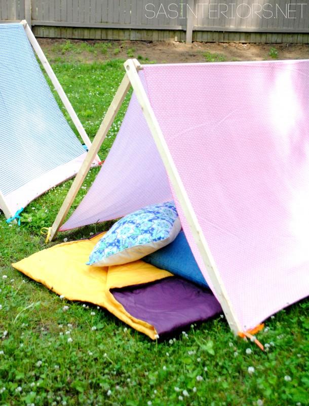 DIY Camping Tent // Sas interiors