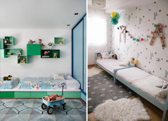 Partager une chambre d 39 enfant les lits jumeaux for Lit bebe pour petite chambre