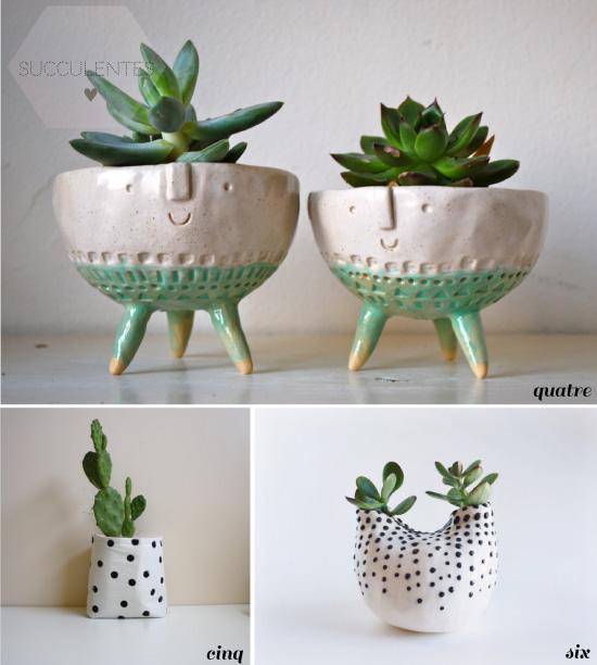 petits pots de succulentes {shopping}