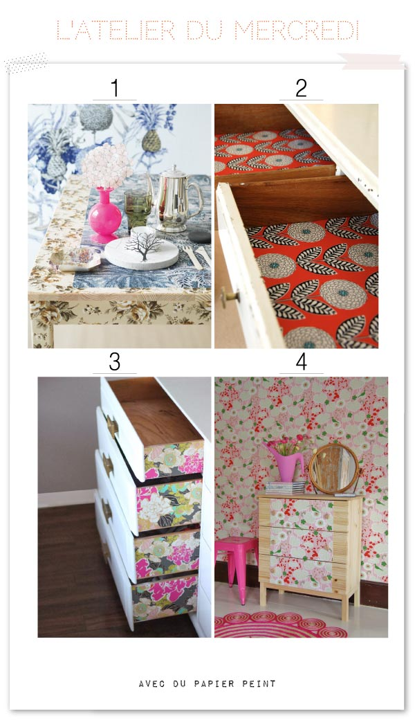 15 diy avec des chutes de papier peint. Black Bedroom Furniture Sets. Home Design Ideas