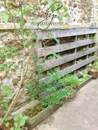 Recyclage plumetis magazine - Jardin vertical palette ...