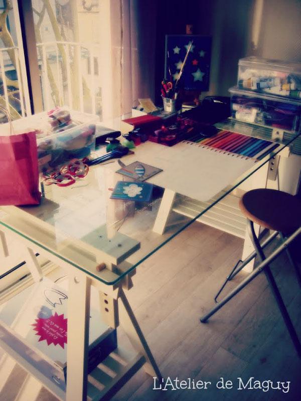 Dans l'atelier de Maguy
