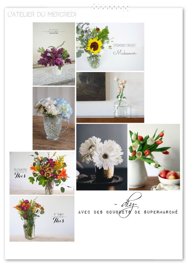 L'atelier du mercredi :avec des fleurs de supermarché {diy}