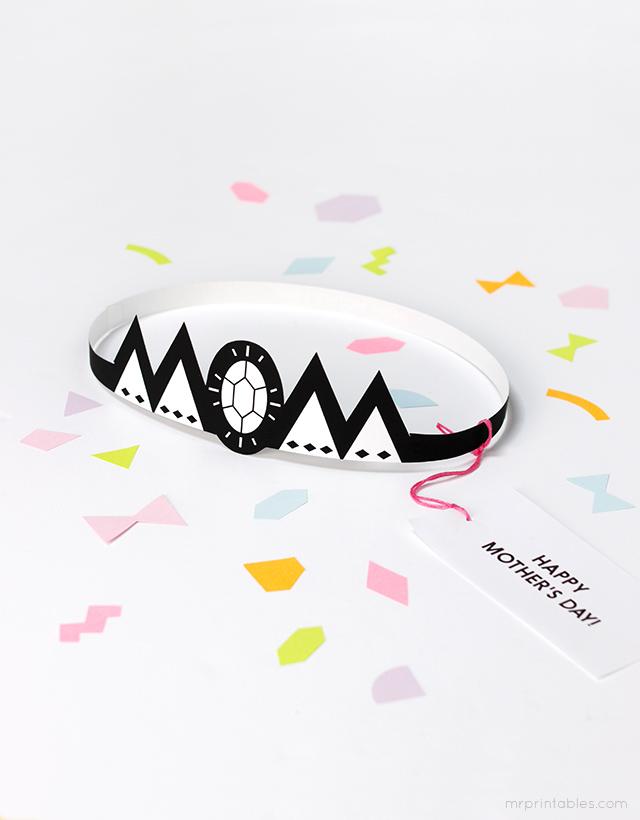 MR Printables // Mother's day card tiara