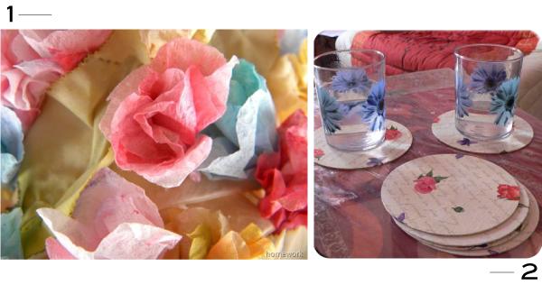 DIY avec des serviettes en papier // Paper Napkins Crafts