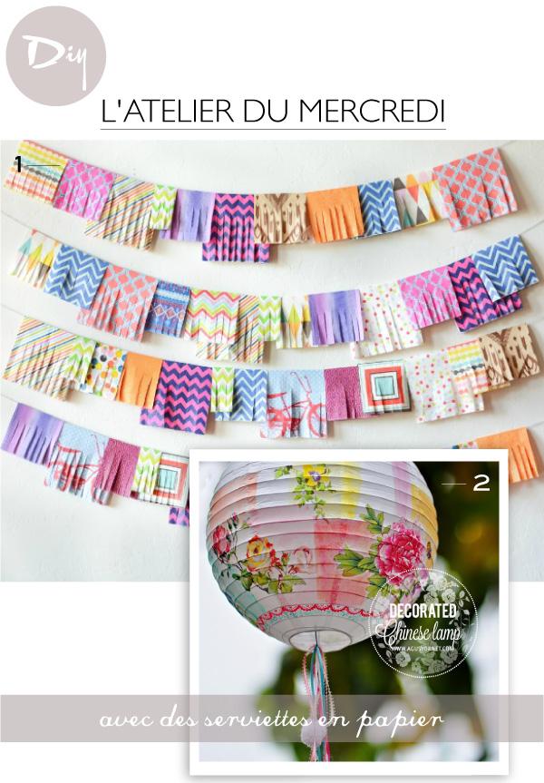 10 diy avec des serviettes en papier - Centre technique du papier ...