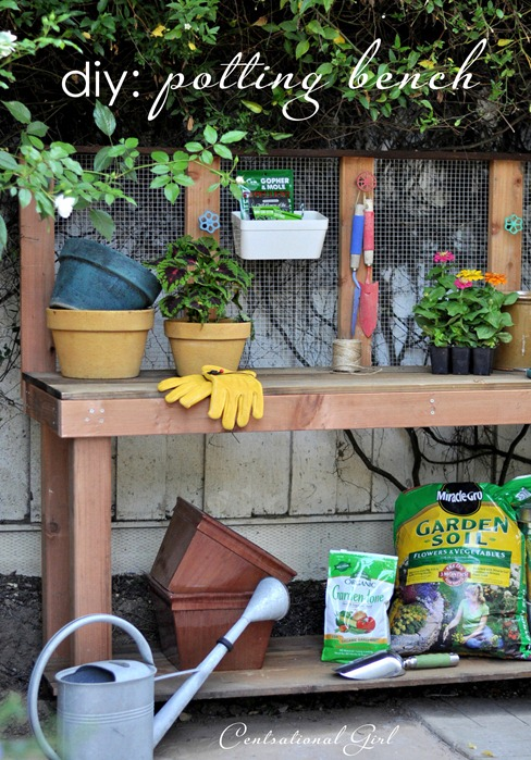 DIY Potting Bench // Centsational Girl