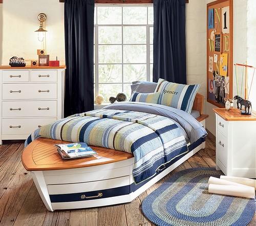 Chambre Style Marin Bleu : Chambre Enfant Ambiance Nautique