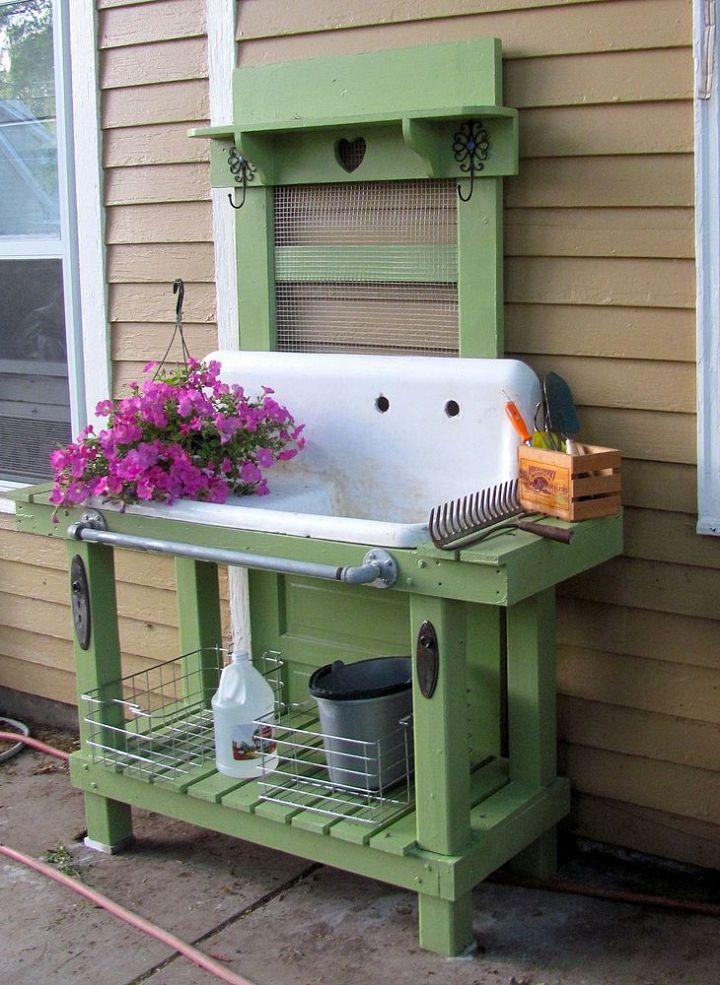 Potting Bench via home Talk