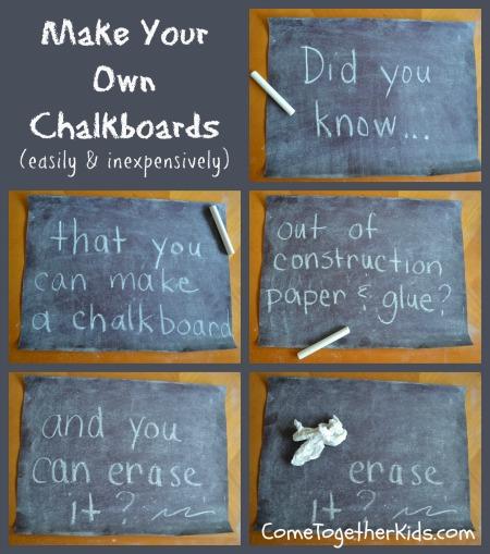 DIY chalkboard // Come together kids