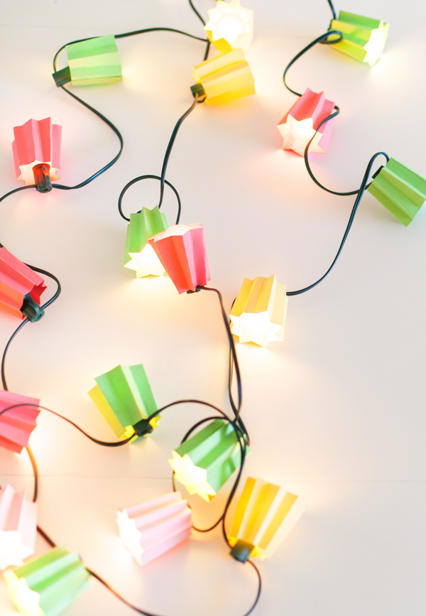Paper folded light garland - A subtle Revelry