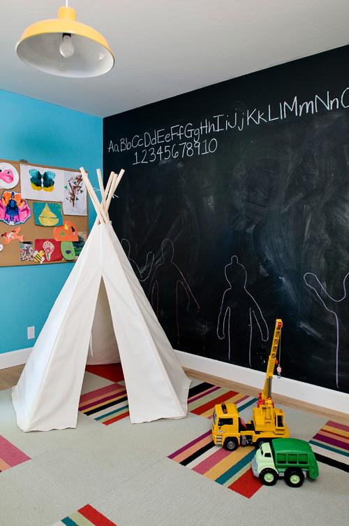chambres d 39 enfants peinture tableau noir. Black Bedroom Furniture Sets. Home Design Ideas