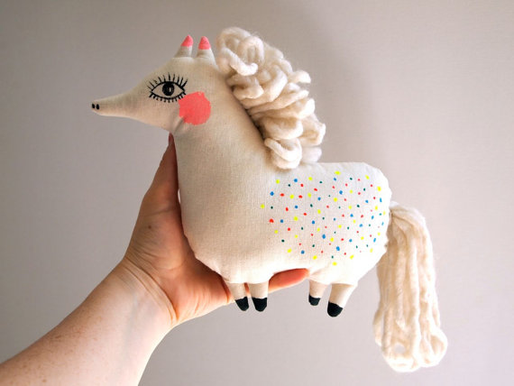 Pony cloth doll hand painted // Jess Quinn