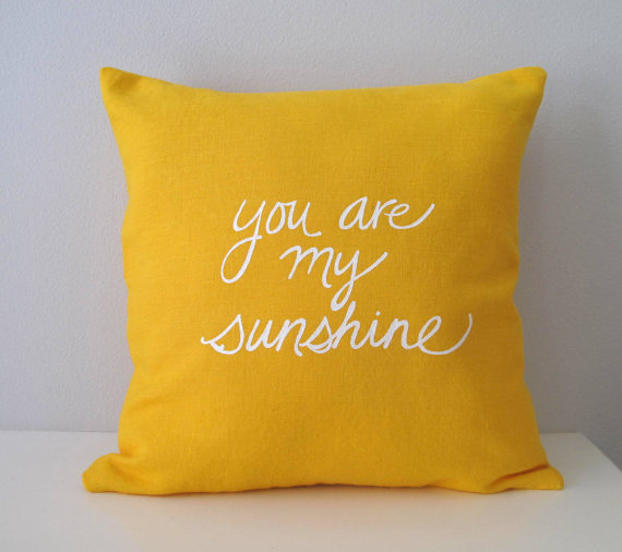 Sweet Nature Designs // You are my sunshine Pillow