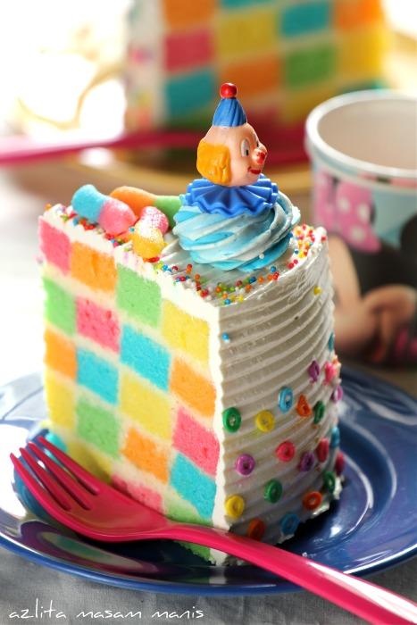 Masam Manis Rainbow cake