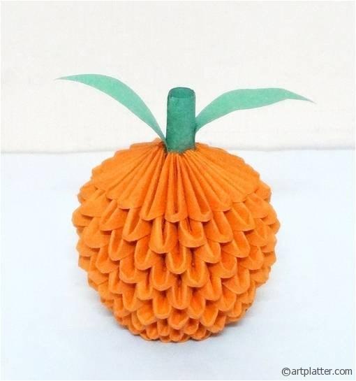 Modular Origami Orange – Tutorial // Art platter