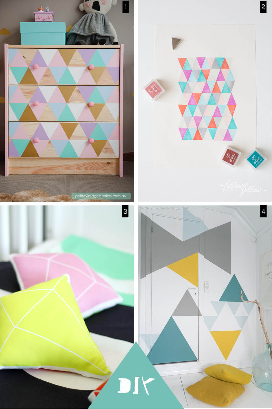 diy geometrical pattern