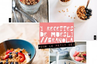 Granola Recipes // diy muesli maison