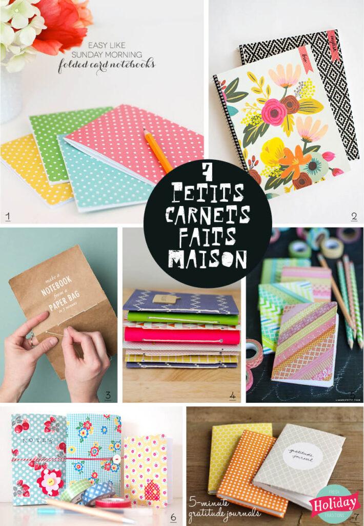 DIY Notebooks // 7 petits carnets maison