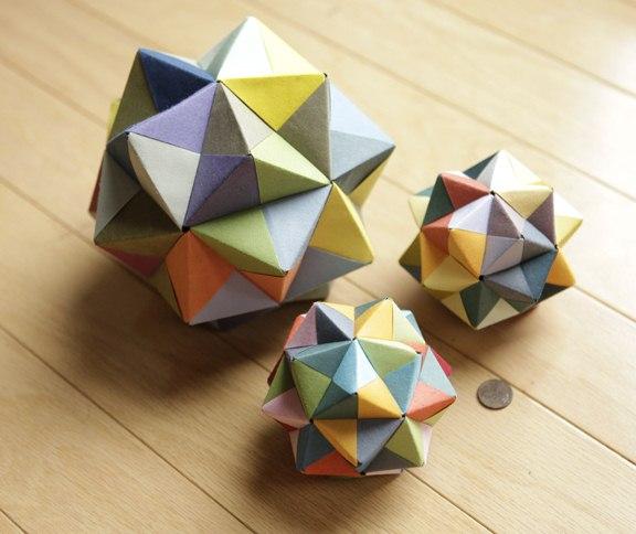 Modular Origami: Icosahedron, Octahedron & Cube