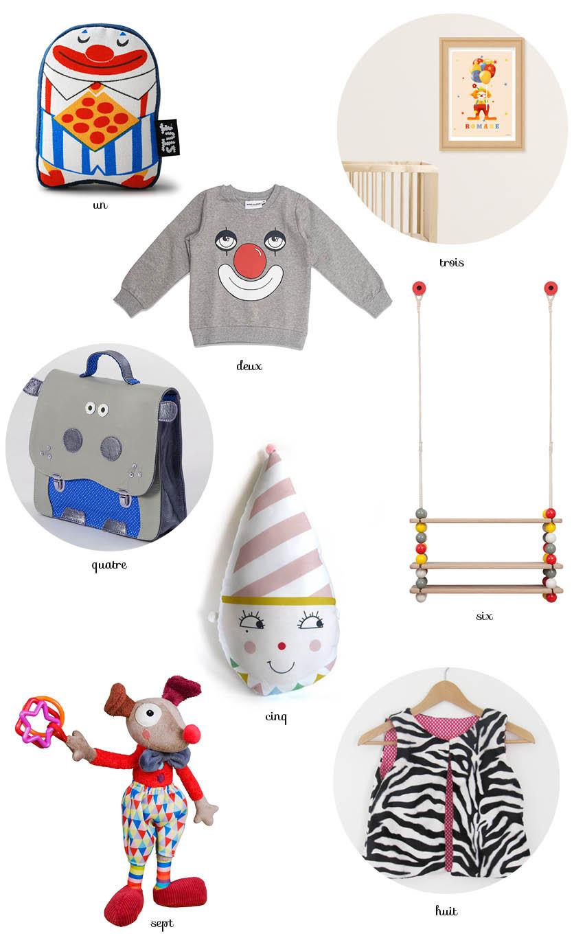 shopping kid + clown