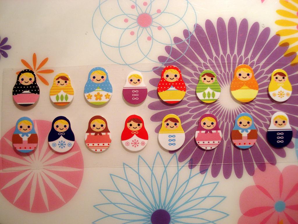 matryoshka stickers