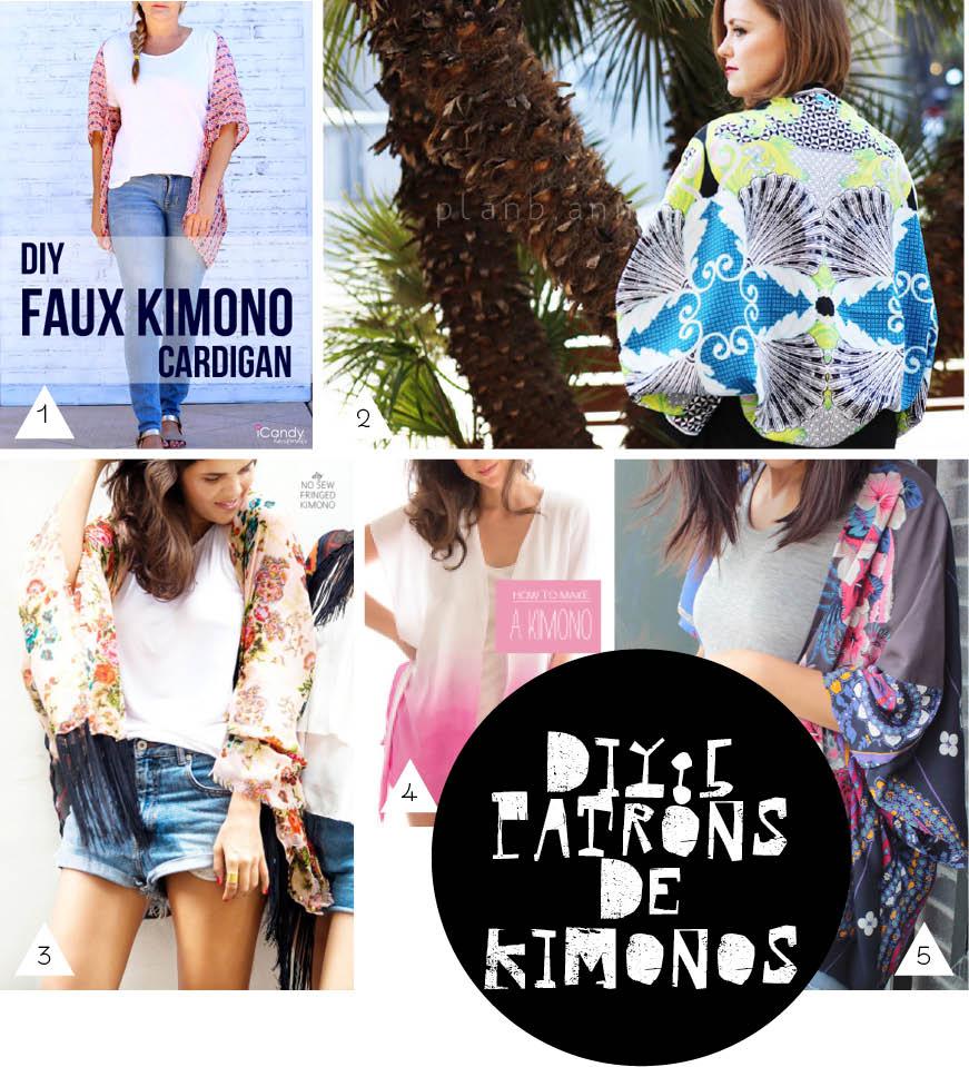 5 patrons de kimonos DIY