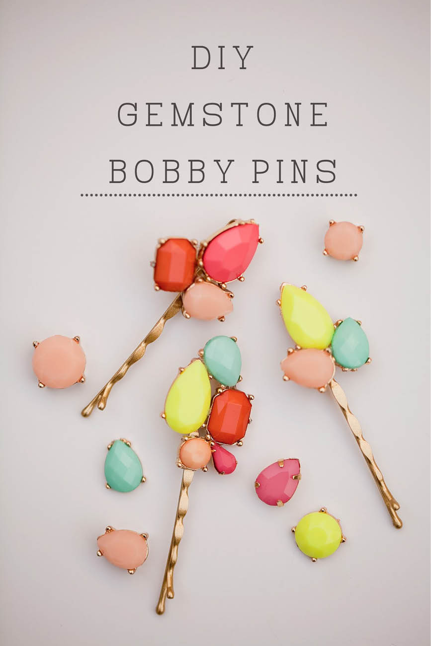 Gemstone bobby pins tellloveandchocolate