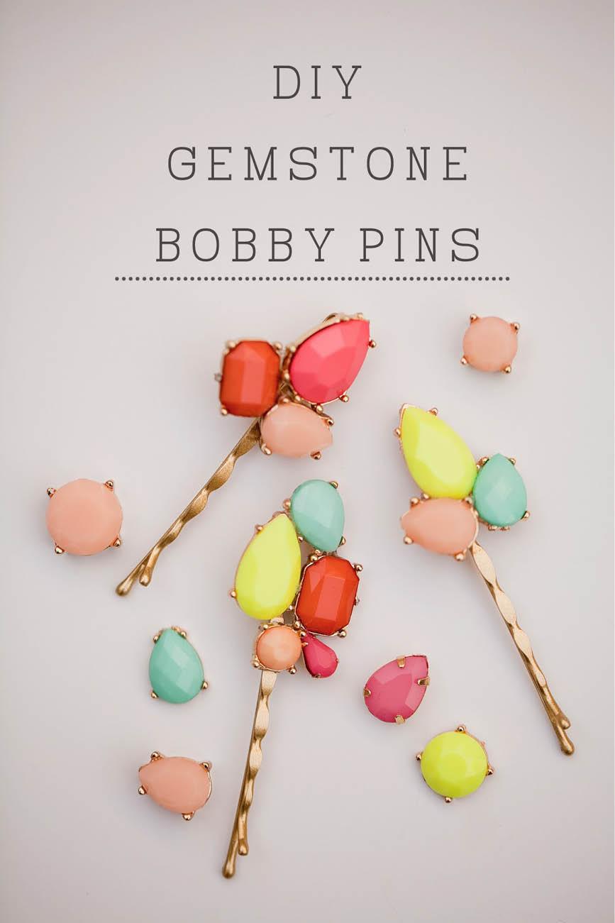 Gemstone bobby pins tellloveandchocolate