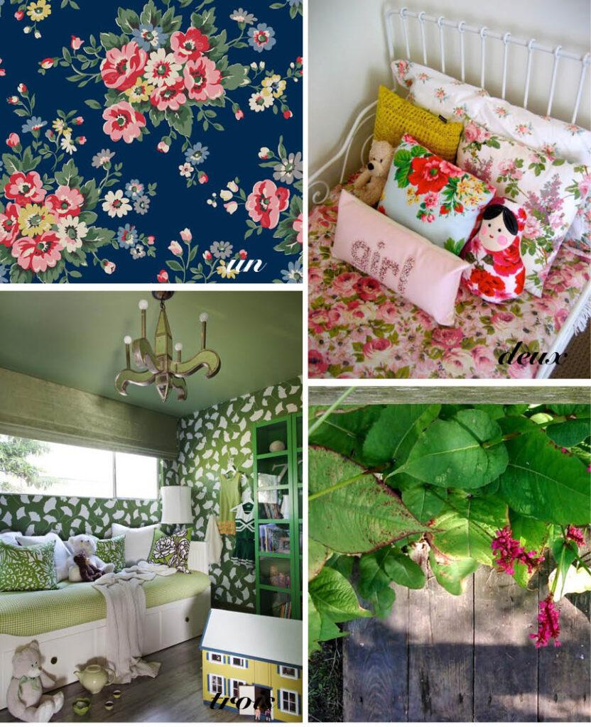 chambre enfant dans un jardin secret