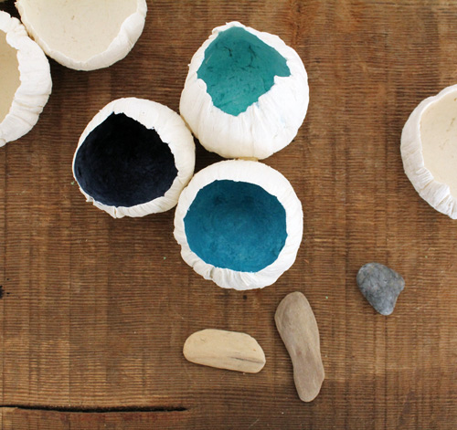 diy project: paper clay barnacles by Brena via DS