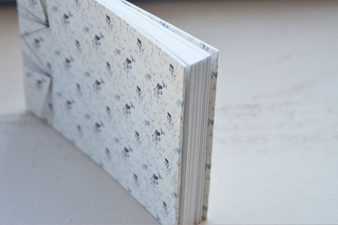 Japanese handbound notebook with a cotton paper cover // 23janvier