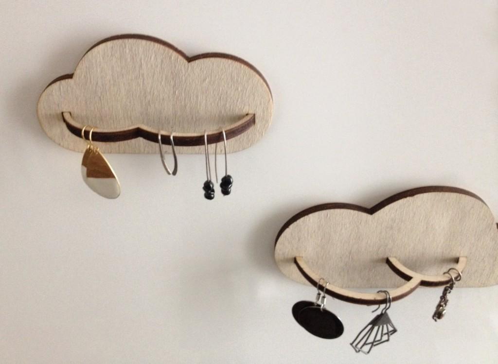 2 Wall jewelry holder - Cloud // Miloo