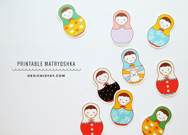 printable matryoshka // design is yay