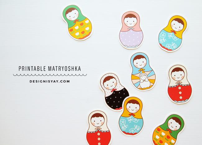 printable matryoshka // design is yay