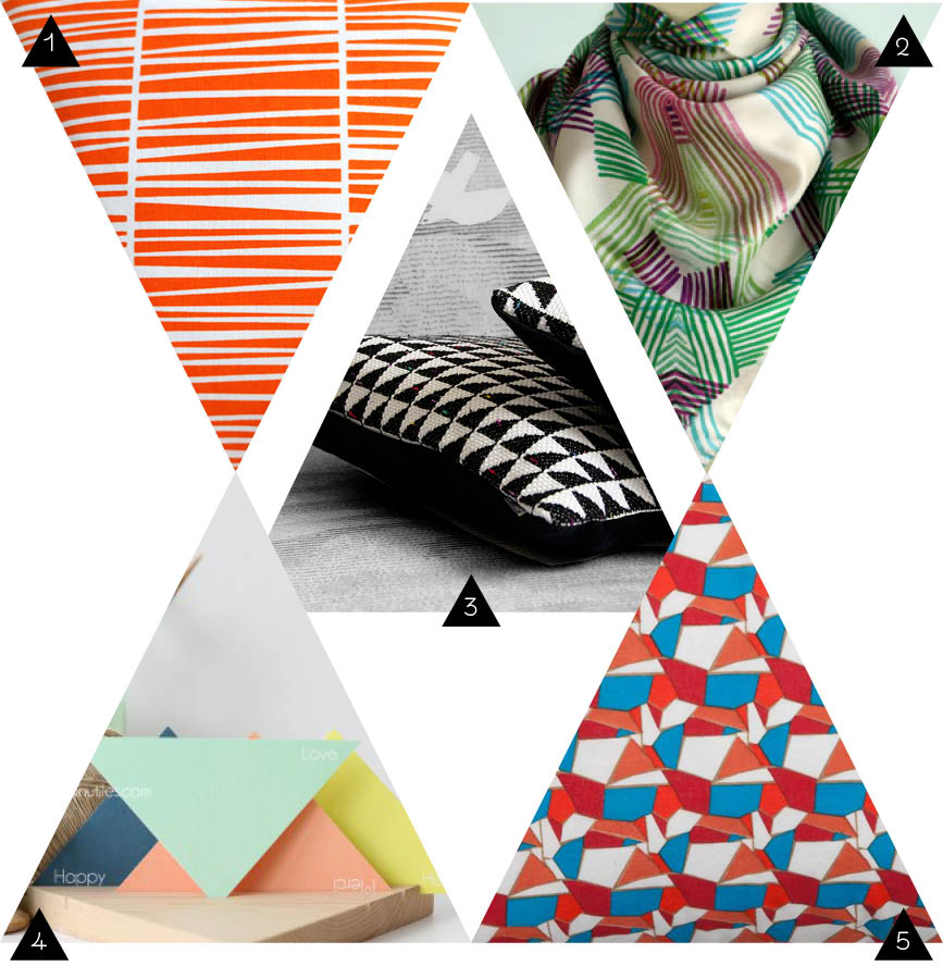 shopping deco triangle