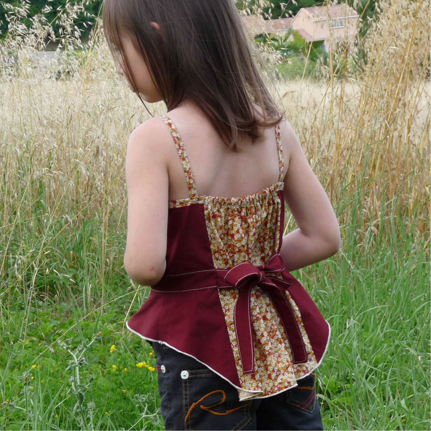 robe orchidee // sewing colors
