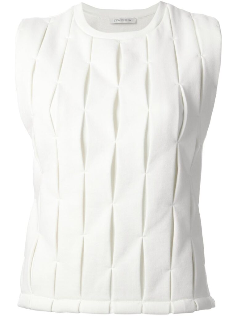 J.W. ANDERSON pleated tank top