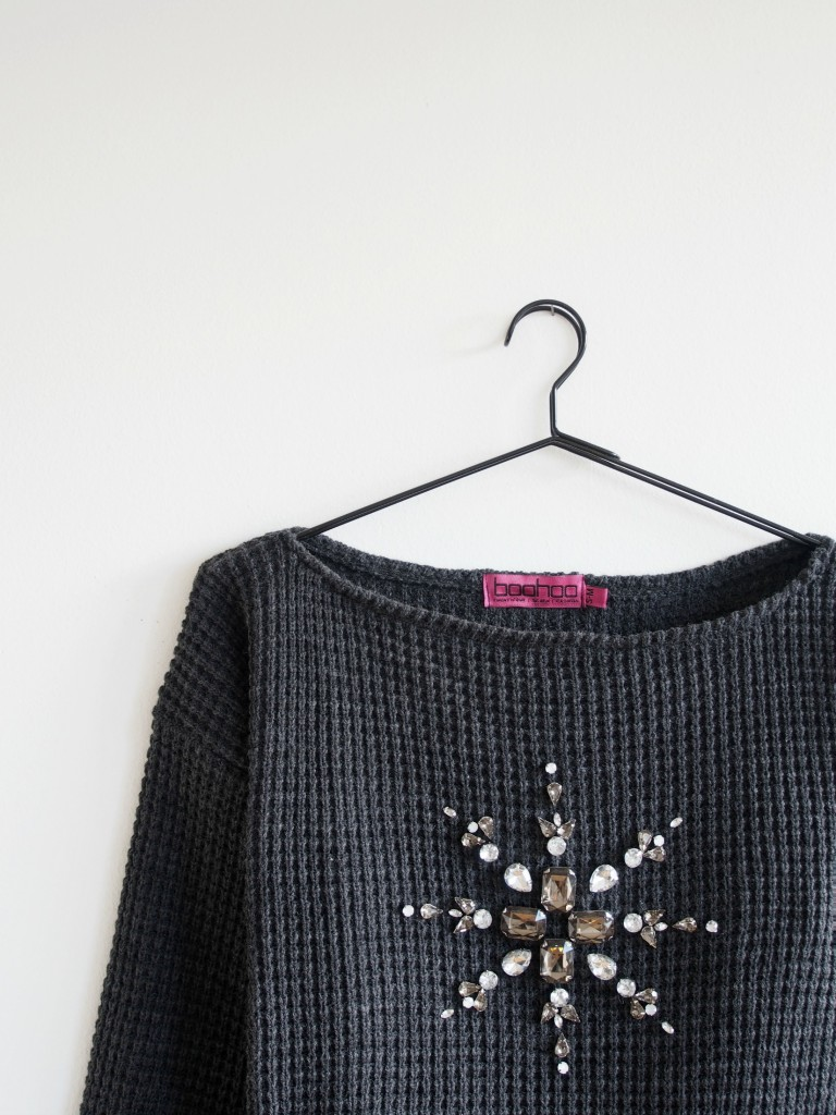 DIY-Mandala-Embellished-Christmas-Sweater-Monsters Circus