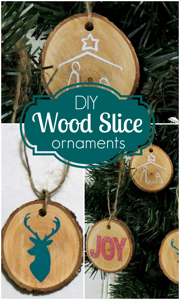 DIY-Wood-Slice-Ornaments // Craftaholics