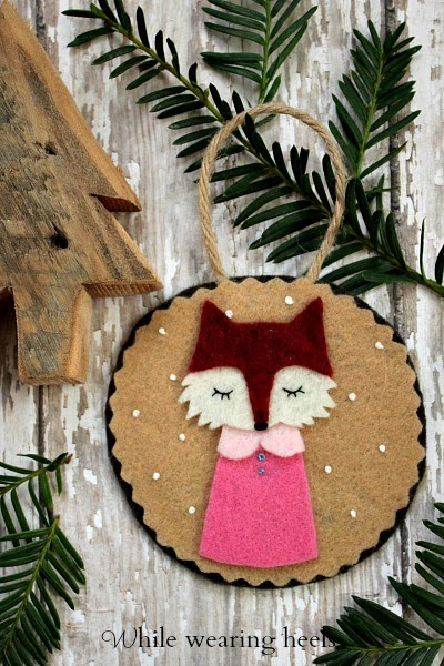 Felt Woodland Ornament Tutorials // While Wearing Heels