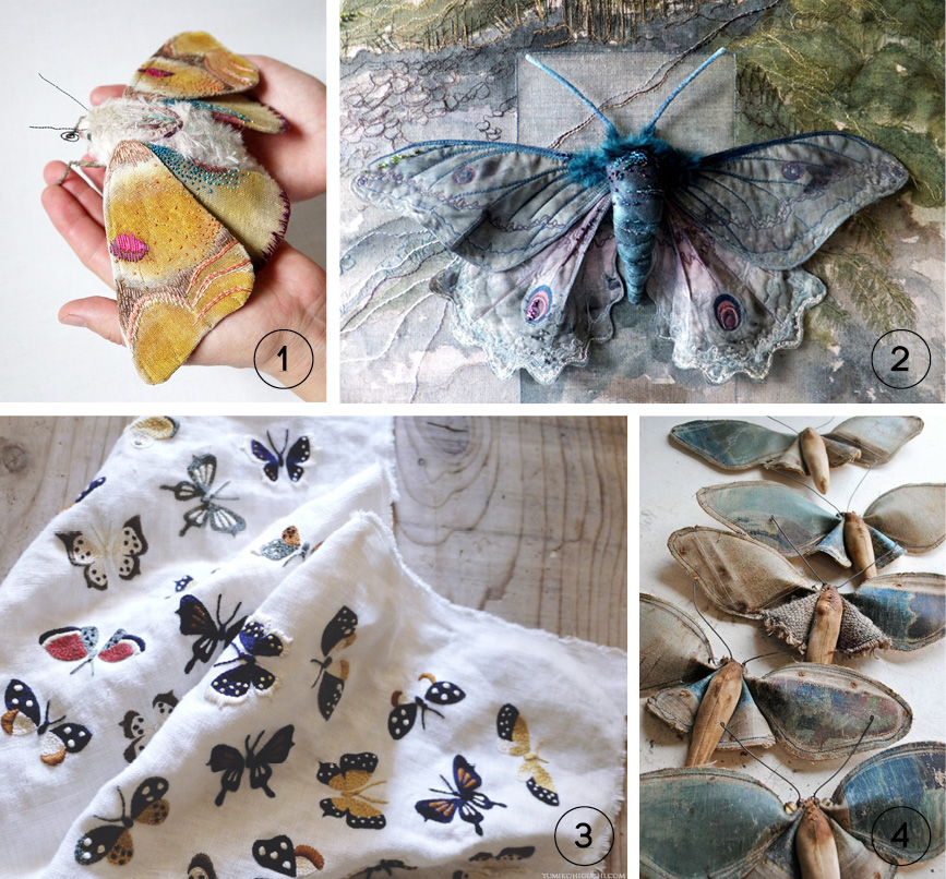 Art textile : les insectes